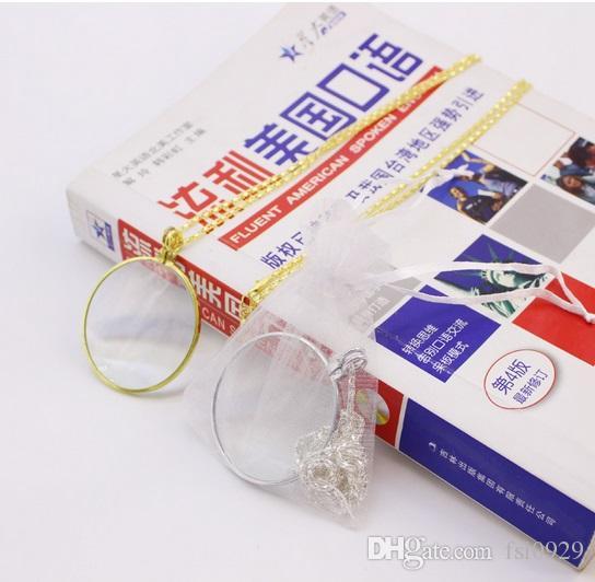 Collar de mon/óculo decorativo con lupa 6x collar de lupa