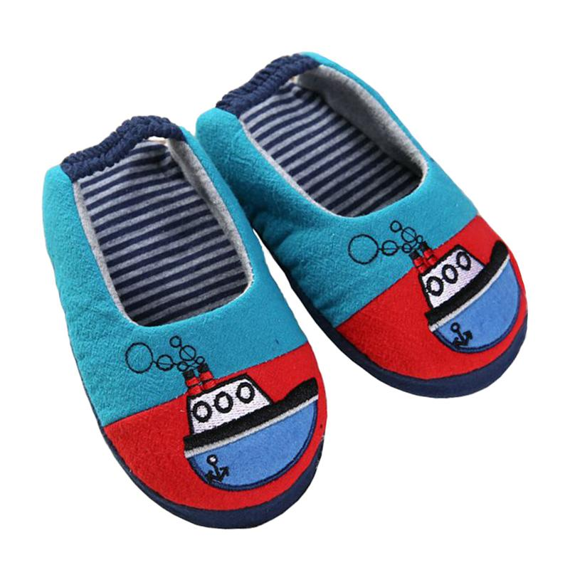 Baby Shoes Toddler Girls Slippers For Boys Cute Cartoon Sandals Children 'S  Home Indoor Cotton Flats Soft Rubber Sole Kids Footwear In House Knitted ...