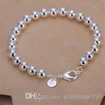 Al por mayor - el precio más bajo regalo de Navidad 925 Sterling Silver Fashion 10mm collar hueco + pendientes Set QS139