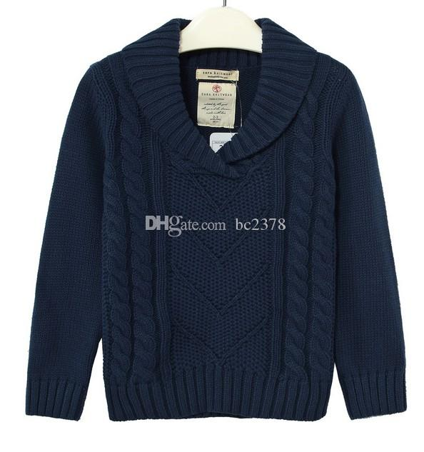 Winter Jumper Pullover Boy Sweater School Kid Cardigan With ...