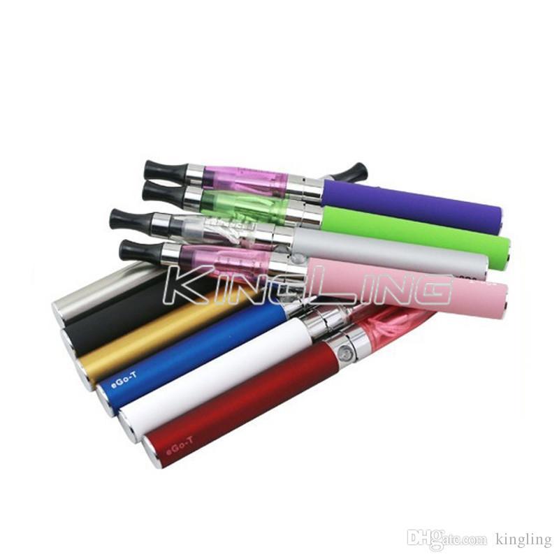 E Cigaretter EGO-T Batteri 510 Ego Tråd CE4 1.6ML Atomizer Tank USB Kabel Laddare Vaporizer Pen Kits Starter Vape Pen Free Ship