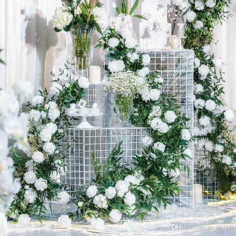 9 رؤساء اللون الاصطناعي الزهور الورود الفاوانيا ثلاثة زهرة الديكور حفل زفاف حديقة محاكاة وهمية زهرة رئيس هدايا عيد الميلاد HH7-153