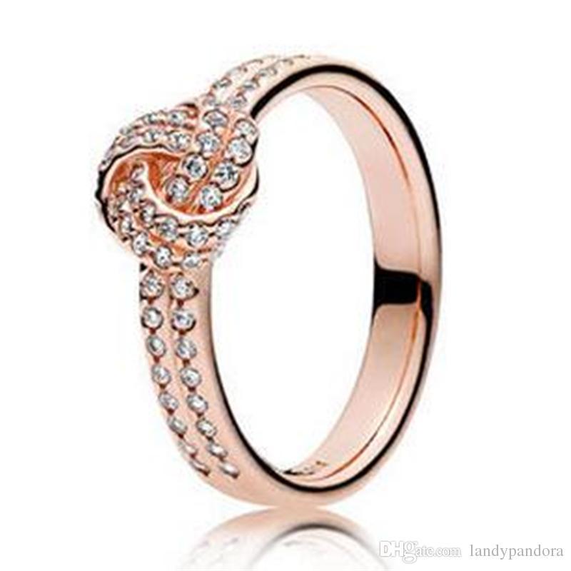 anillos pandora oro rosa