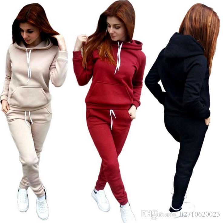 2019 Women S Tracksuits Sport Suit Hoodie Sweatshirt+Pant Jogging Femme  Fashion Sportswear Women 2 Two Piece Set From Li2710620023 692ca8834
