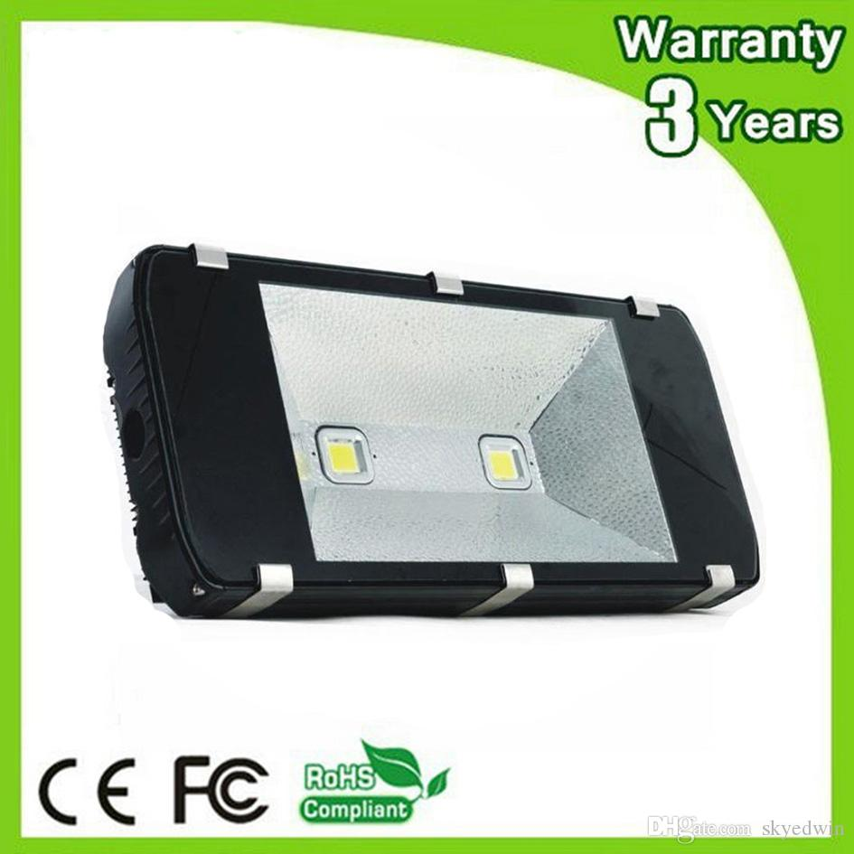 (10PCS/Lot) LED Flood Light 12V LED Floodlight 200W DC12V 24V AC85-265V 100-110LM/W Thick Housing 3 Years Warranty Free Shipping