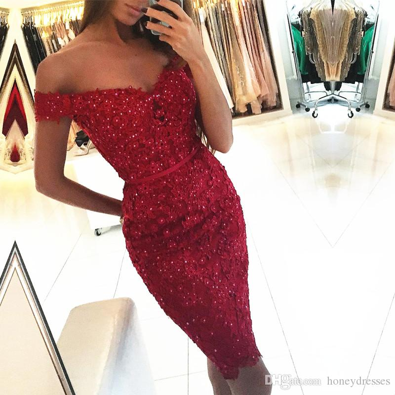 V-Neck Short Sleeve Zipper Straight Prom Dresses Above Knee Lace and Applique Ribbons Beaded Sexy Party Gowns Eveing Dresses