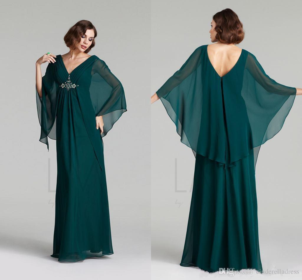 Elegante Barato Kaftan Abaya Vestidos de Noche Árabes 2017 Chiffon Una Línea Plisada con Cuentas Largo Formal Tallas grandes Vestidos de Madre de Novia personalizados