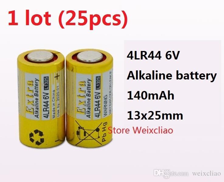 25 stücke 1 los 4LR44 476A 4A76 A544 V4034PX PX28A L1325 6 V trocken alkalische batterie 6 Volt Batterien Freies Verschiffen