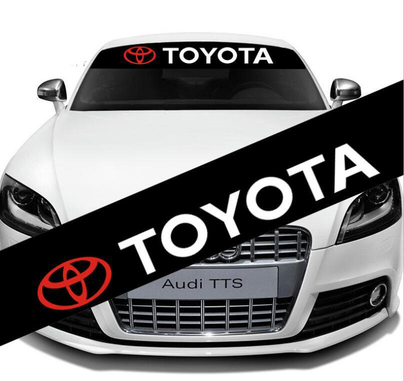 2018 car front windshield banner strip sun visor graphics vinyl decal sticker for toyota transformers custom from ebyhappy 7 54 dhgate com