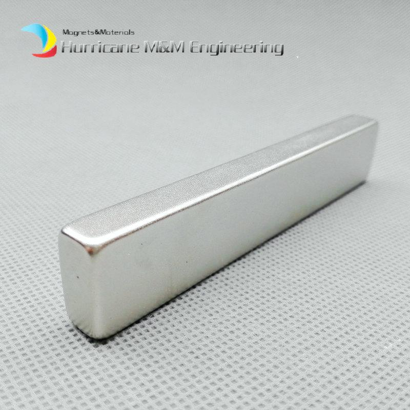 "1 Pack Grade N52 NdFeB Block 100x20x10 mm about 3.94"" Rectangle Bar Strong NdFeB Bar Neodymium Permanent Magnets Industry Magnets"