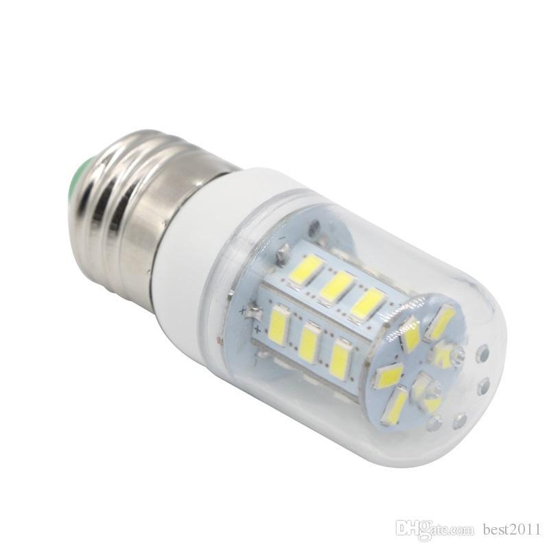 SMD 5730 5630 E27 LED lamba AC 110 V 220 V Ultra Parlak 5730SMD LED Mısır Ampul işık Avize 24LED