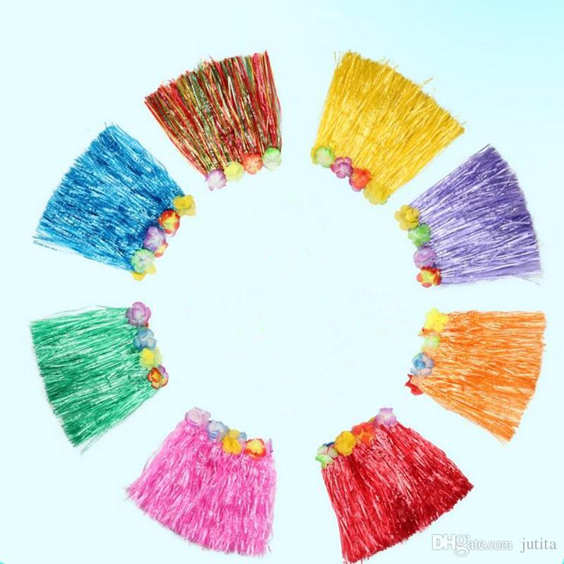 2017 New 60cm Adult Plastic Fibers Grass Skirts Hula Skirt Hawaiian Party Costumes Birthday Wedding Party Favor Gift
