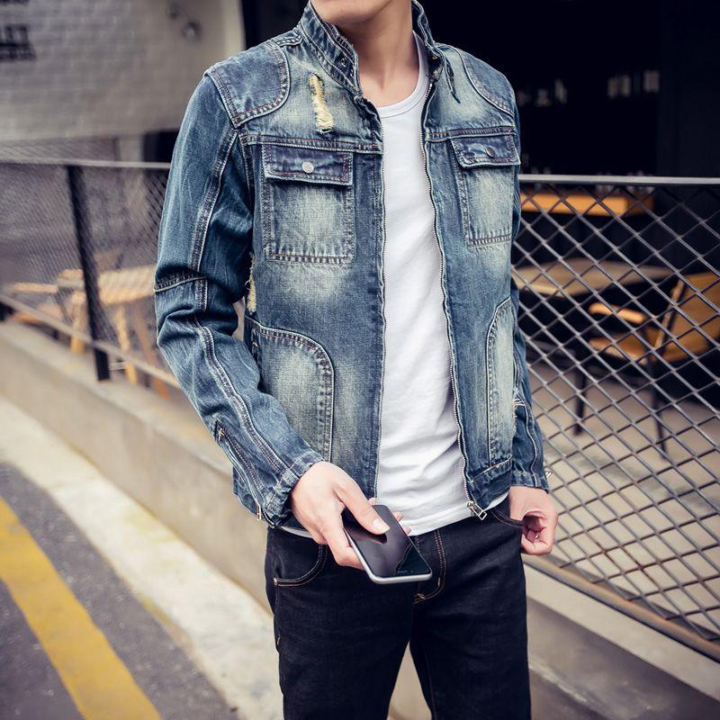 Hat Denim Jacket Fashion Men S Cotton Denim Jackets Coat Casual Slim