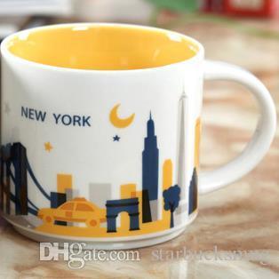dfe8cd883 Compre 14 Oz Capacidade De Cerâmica Starbucks Cidade Caneca Americana  Cidades Melhor Caneca De Café Copo Com Caixa Original New York City De  Starbucksmug