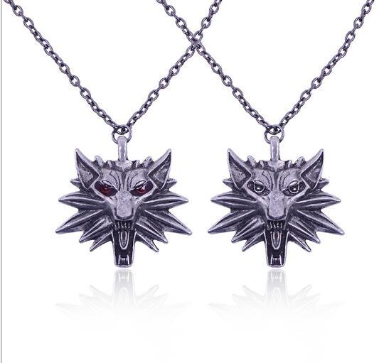 The Witcher 3 Wild Hunt Medallion And Chain Necklace Pendant Hip Hop Jewelry Fashion for Women Men Alloy Bohemian Style