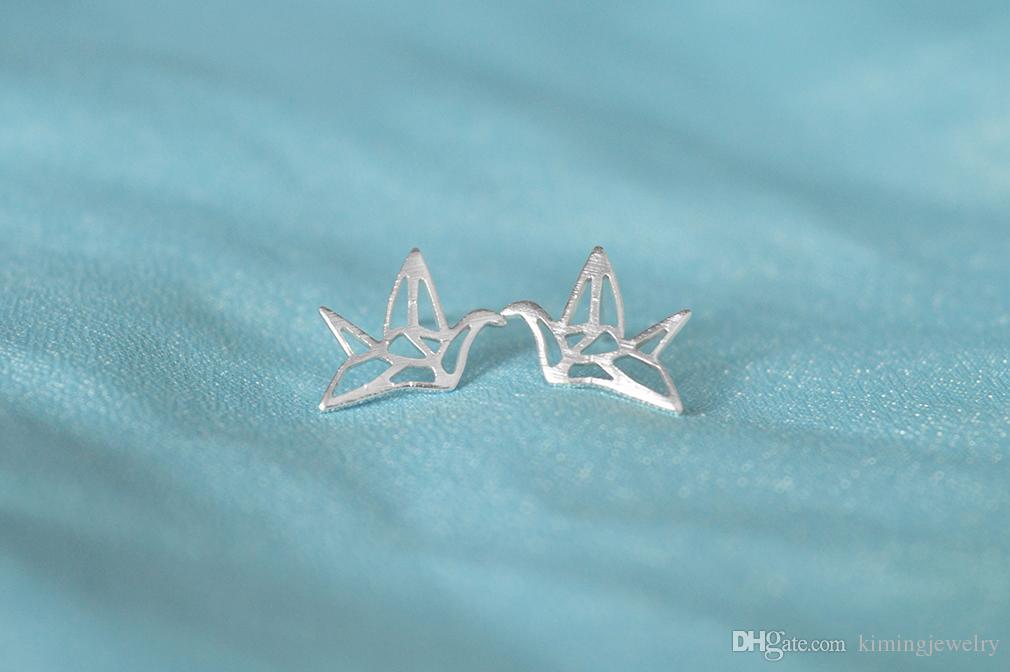 Korean Cheap Papercranes Cool Hollow Out Fancy Ear Stud Earrings Women Girls Wholesale Fashion Jewelry Bijouterie China