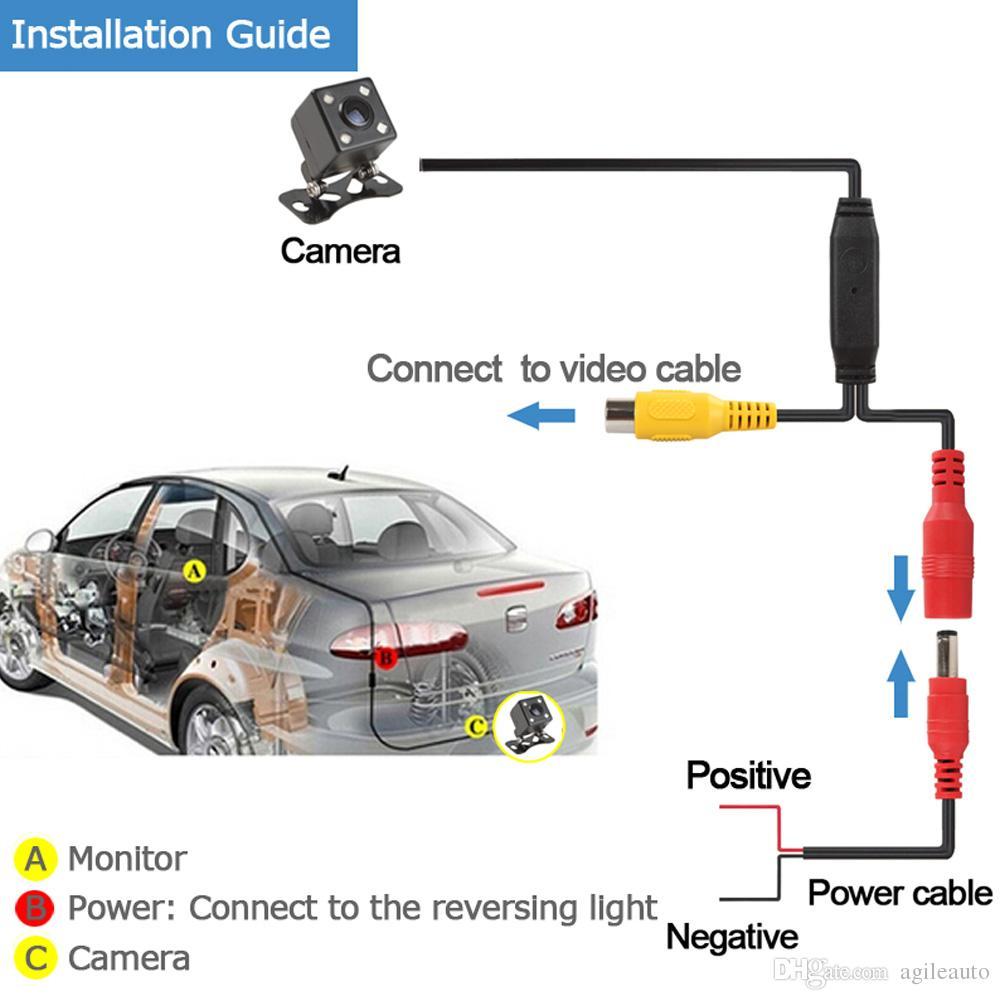 1 مجموعة طوي 4.3 بوصة TFT LCD مصغرة سيارة مراقب مع كاميرا احتياطية للرؤية الخلفية للمركبة عكس نظام وقوف السيارات CMO_526