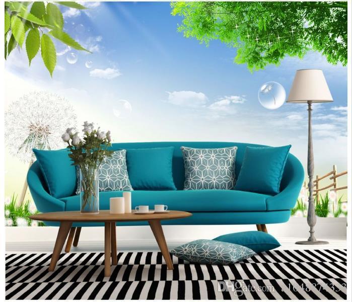 High-End-Custom 3d Fototapete Wandbilder Tapeten Frische Landschaft 3D Wohnzimmer Tapete Hintergrund Wand Wohnkultur