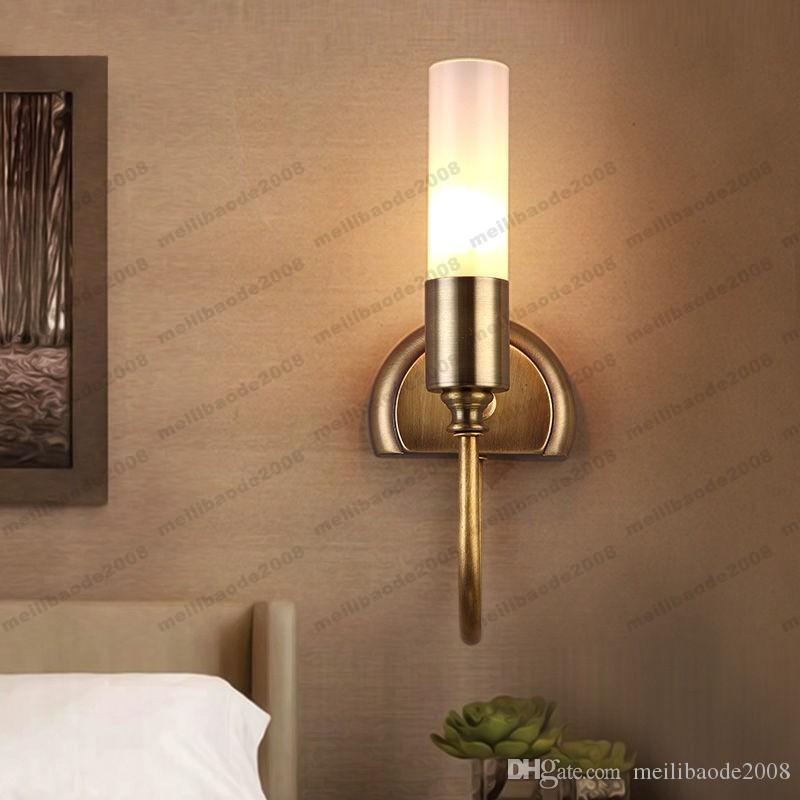 2017 Rustic Cylinder Glass Shade Indoor Wall Sconces Lamp Hallways Bedroom  Home Light Myy From Meilibaode2008, $63.32 | Dhgate.Com