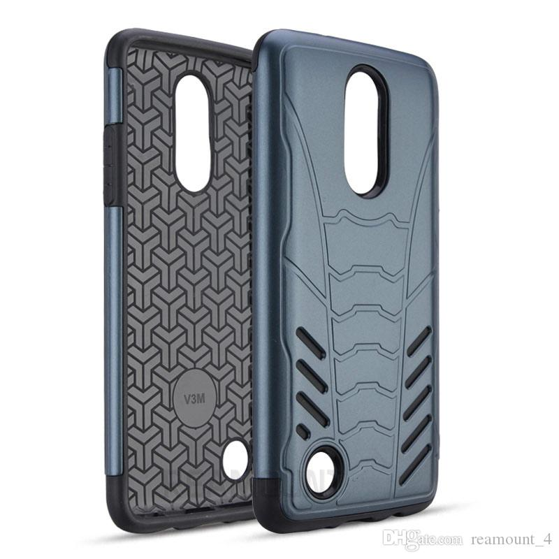 LG bölgeli K5 K7 Darbeye Telefon Arka Kapak için LG V20 V10 K10 Zırh Hibrid TPU + PC Kasa için Toptan Yeni Tasarım Lüks Telefon Kılıfı