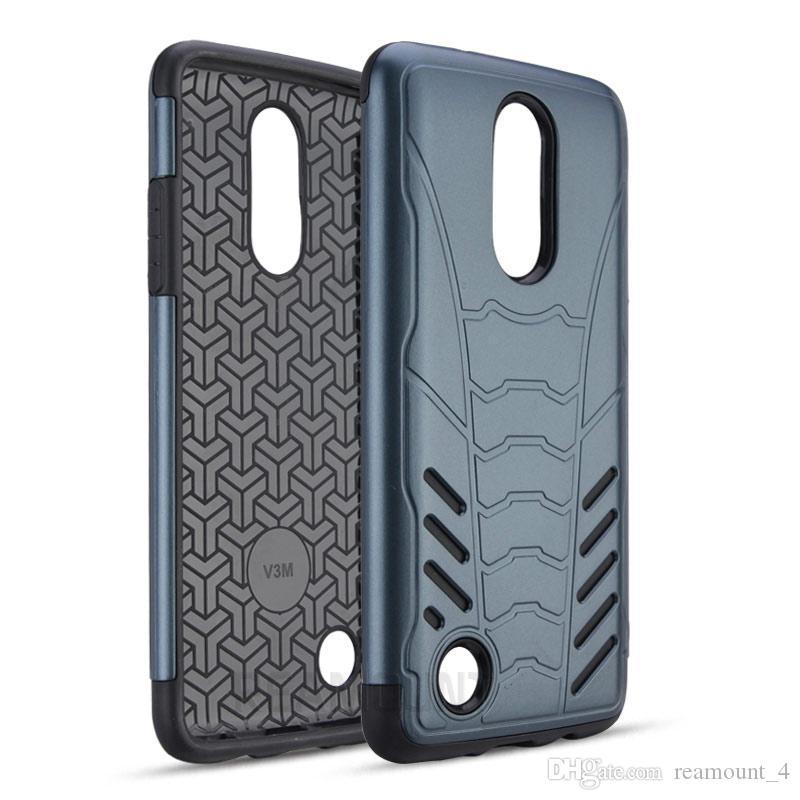 Toptan Telefon Kılıfı için LG-Stylus2 artı LV3 Zırh Hibrid TPU + PC Tam Koruyucu Kapak LG-bölge X5 Darbeye Telefon Arka Kapak