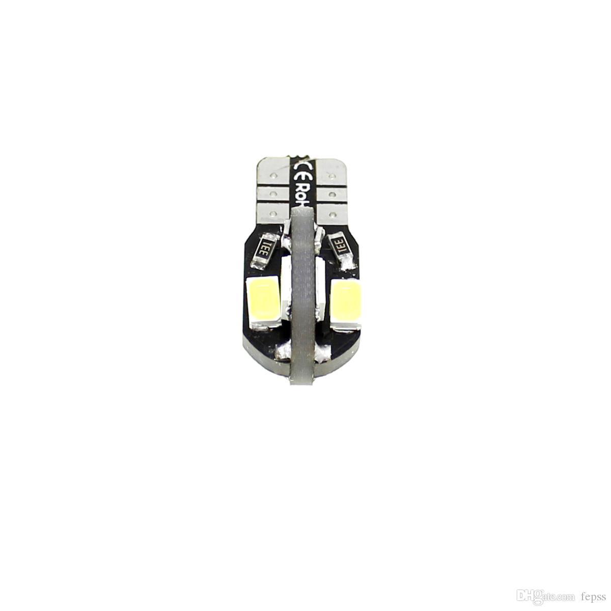 2X Araba Oto 12 V LED T10 8SMD 5730 SMD Lamba Beyaz Işık Dome Işık 1.6 W