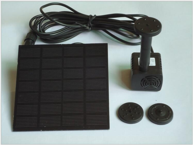 7V 1.2W Solar Panel Power Submersible Fountain Pond Pool Water Cycle Pump Outdoor Garden Brushless