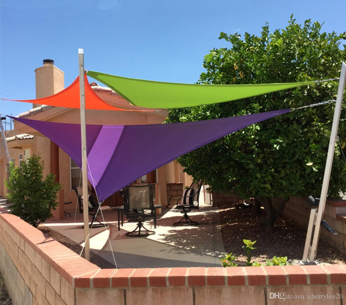 2019 triangel shade sail sun shelter x x uv block top outdoor canopy patio shade. Black Bedroom Furniture Sets. Home Design Ideas