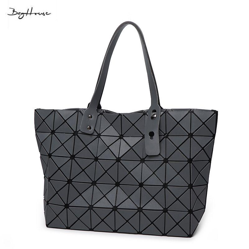 bd332dad94c0 Wholesale BaoBao Issey Women Matt Surface Retro Tote Shoulder Bags Miyake  Famous Brand Sequins Folding Handbags Casual Top Handle Bags Satchel  Handbags ...