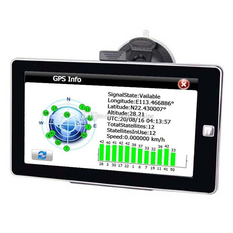 HD Anti-glare 7 inch GPS Navigation Car Navigator Truck Navi Bluetooth Handsfree AVIN GPS MP4 FM Transmitter 8GB 3D TTS Maps