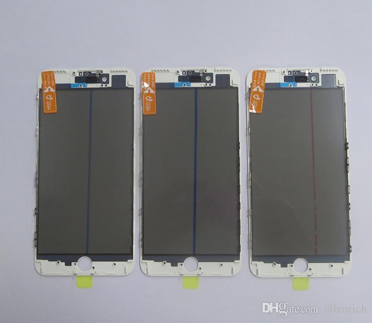 Ursprüngliches LCD-Bildschirmglas mit Rahmen OCA-Polarisatorfilm Kaltpresse für iPhone 7 plus Touch Panel-Ersatz Jiutu