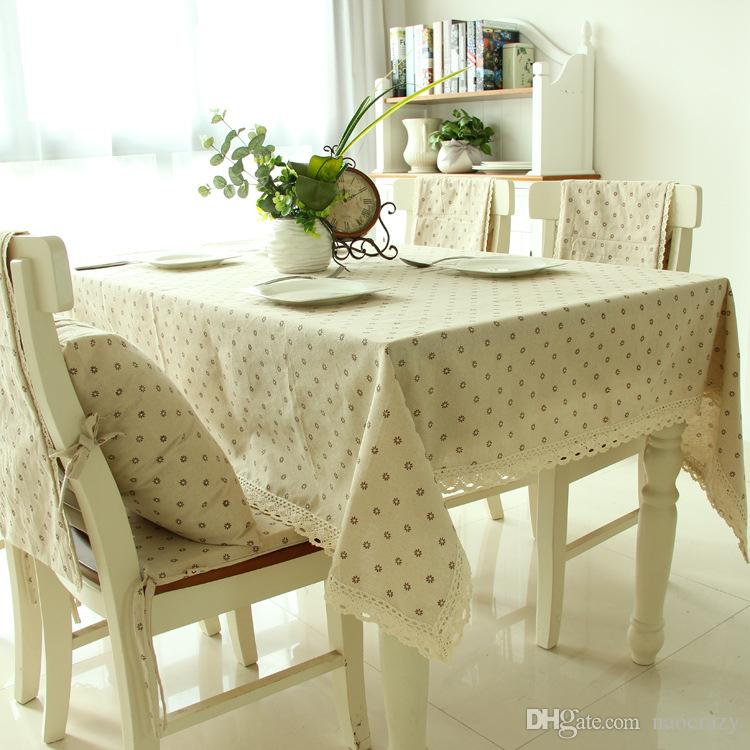 2017 Linen Pastoral Cloth Small Daisy Table Cloth Home Universal Tablecloth  Lace Lace Multi Size Tablecloth Heat Resistant Wear Stylish Extra Long ...