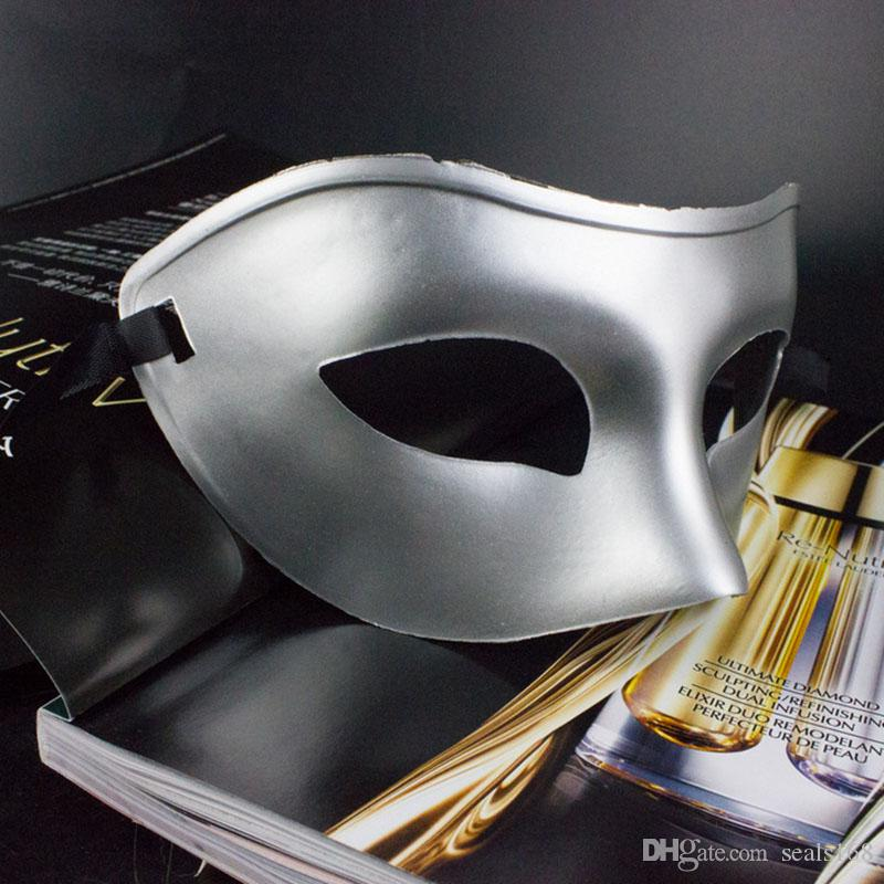 Máscara de lujo para hombre del partido veneciano de la máscara Máscaras de Halloween gladiador romano carnaval media mascarilla opcional multi-color de HH7-136
