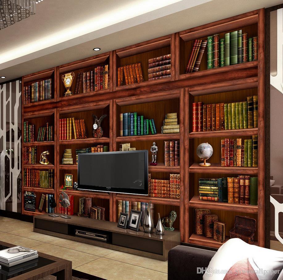 New Custom 3D Beautiful Living Room Bookcase Bookcase 3D