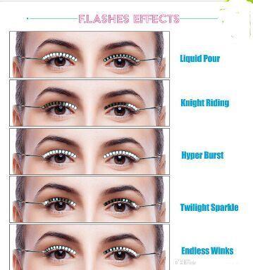 LED Lashes Releases Halloween Toys LED Strips False Eyelash Sticker 3d LED Lashes Light Fake Eyelashes Extension