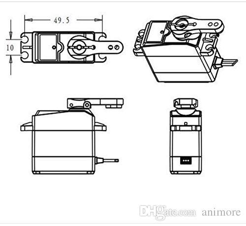 DS3218 Aggiornamento Digital RC Servo High Torque 20KG completa Metal Gear Digital Dervo Baja servo impermeabile Baja Bar angolo di controllo 180