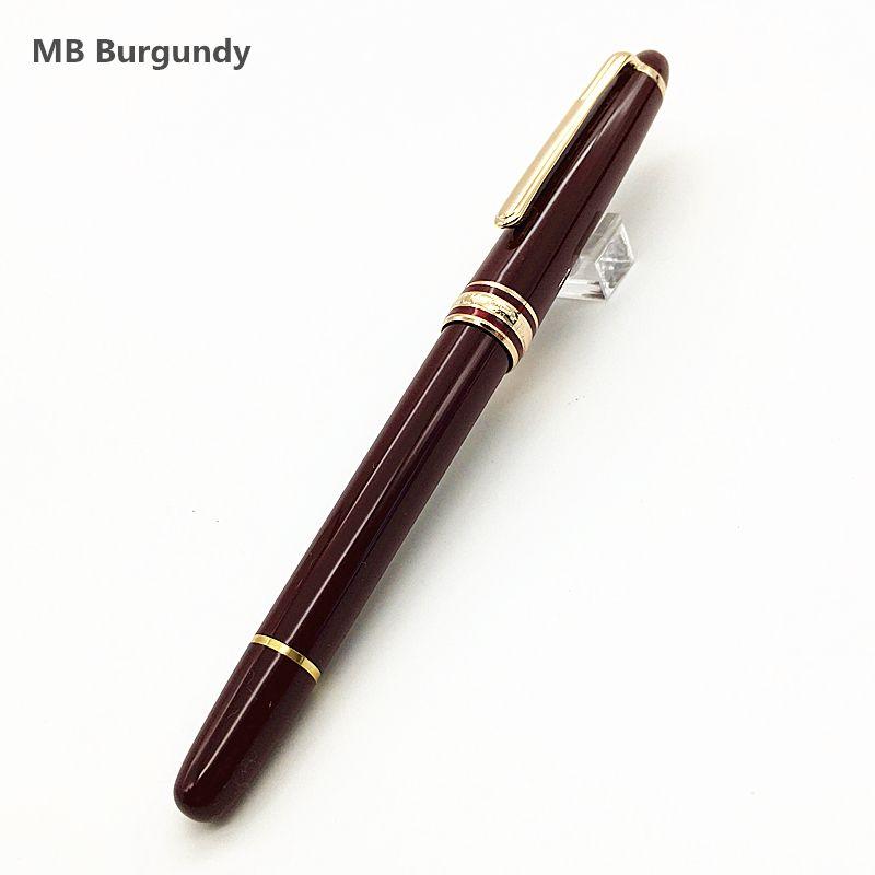 Burgundy Rollerball 신형 펜촉과 볼펜이 달린 레드 고급 볼펜 시리즈