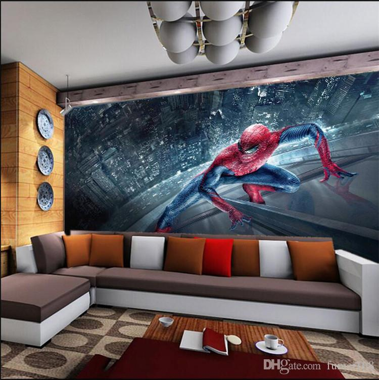 Spiderman Kids Bedroom Wallpaper Rotolo di grandi dimensioni Foto Murales 3D Sfondi murali soggiorno Home Decor personalizzato