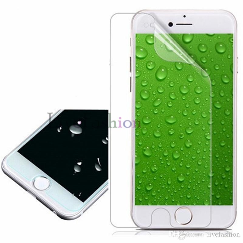 Ultra-dünnes Handy Clear Displayschutzfolien Anti-Glar Anti-Scratch für iPhone X 8 6s plus 5S staubdicht Vorderseite Rückseite Schutzfolie