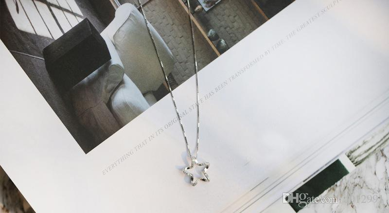 2017 Fashion Star Crystal Necklace with Crystal Star Pendant Necklaces Necklaces & Pendants Jewelry Statement Stars Necklaces