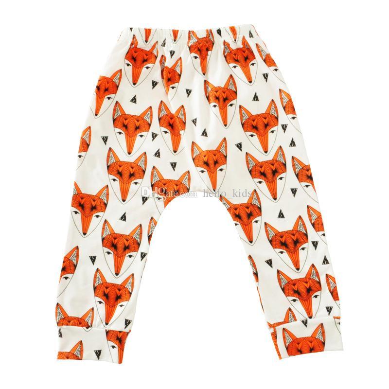 2017 herfst baby jongens meisjes kinderen dier cartoon leggings casual cartoon dier broek kleurrijke vos panda tijger baby lange broek pp broek