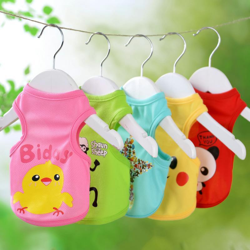 High Quality Summer/Spring Cute Dog Vests Cartoon Small Animals Dog Vest Teddy Dog Puppy Clothes Pet Shirt Roupa Para Garment