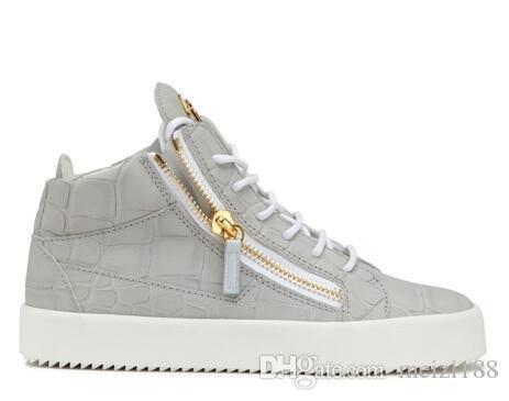 italian famous brand designer zipper men sneakers women