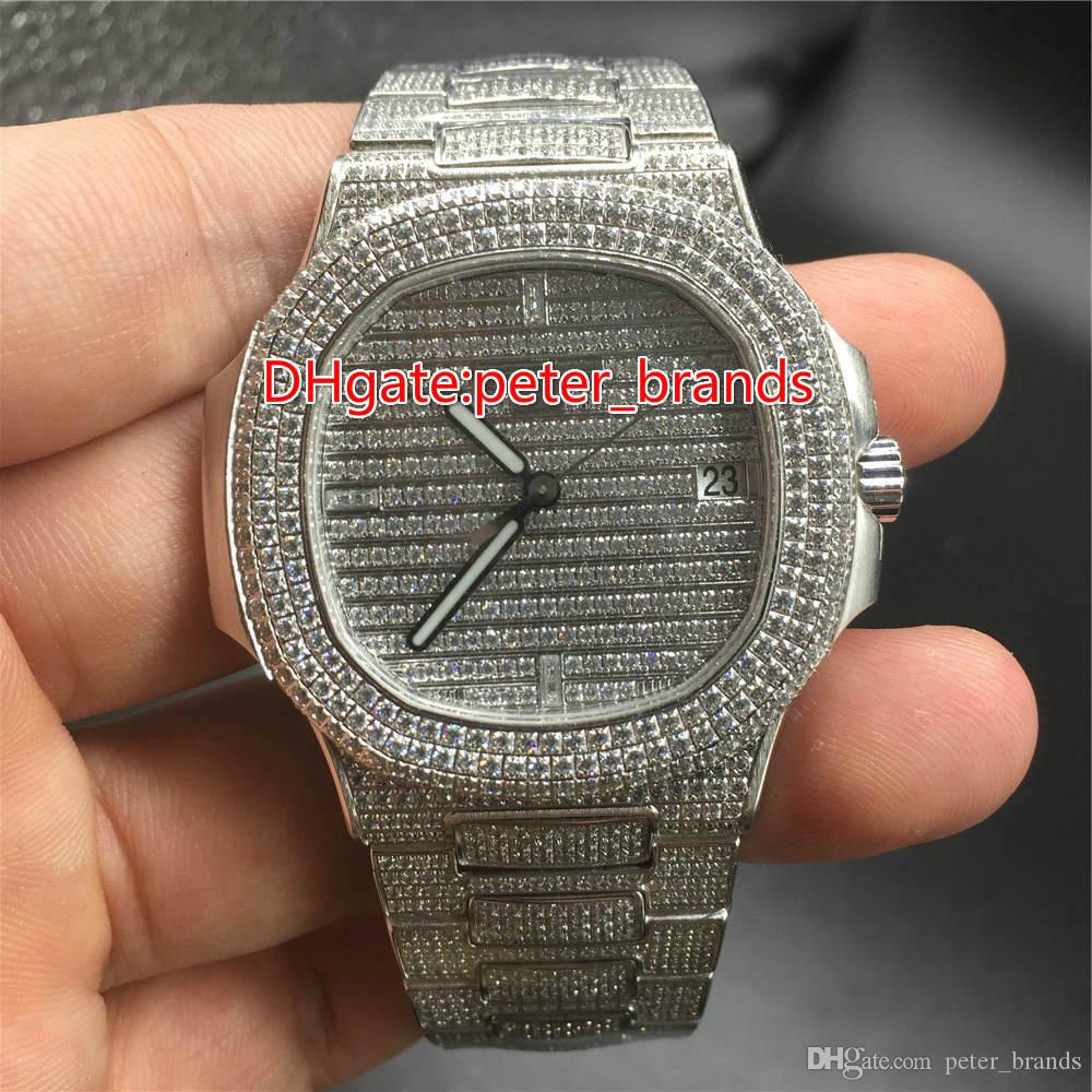 Full iced out hip hop rappers watch automatic best grade for Rapper watches