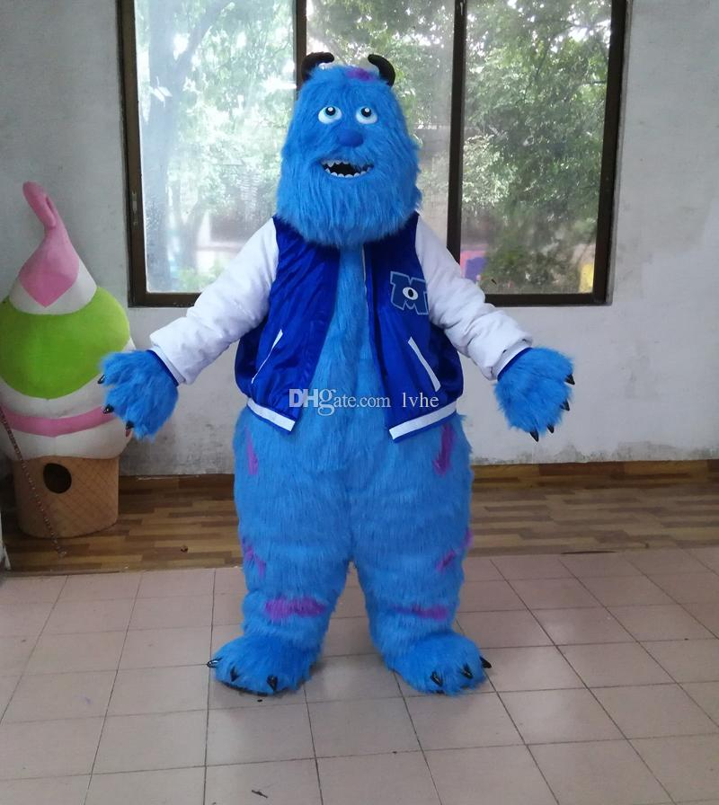 db7a0252b4ed Sully Monster S Inc. Sullivan Mascot Costume Fancy Party Dress Halloween  Carnivals Costumes With High Quality For Adult Cheap Mascot Costumes For  Kids ...