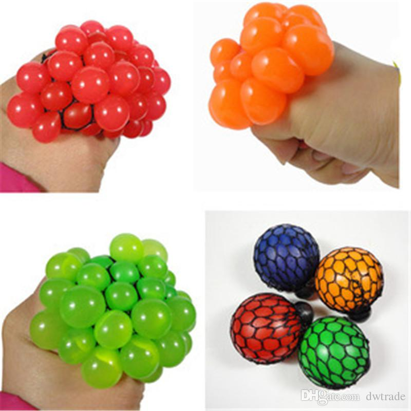 Cute Anti Stress Face Reliever Grape Ball Autism Mood Squeeze Relief Healthy Toy Funny Geek Gadget Vent Toy
