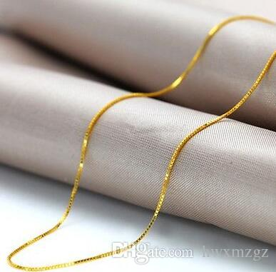 Prezzo basso AU750 Collana in oro massiccio 18 carati con catena a catena / scatola in oro giallo