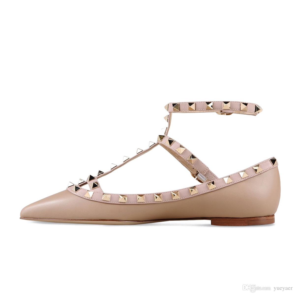 Zandina Women Handcrafted Fashion Ballerina Flat Shoes Pointed Toe T-Strap Flats Pumps Shoes For Party Wedding