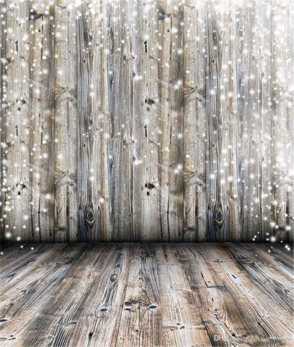 2018 Vintage Wood Wall Floor Photography Backdrops
