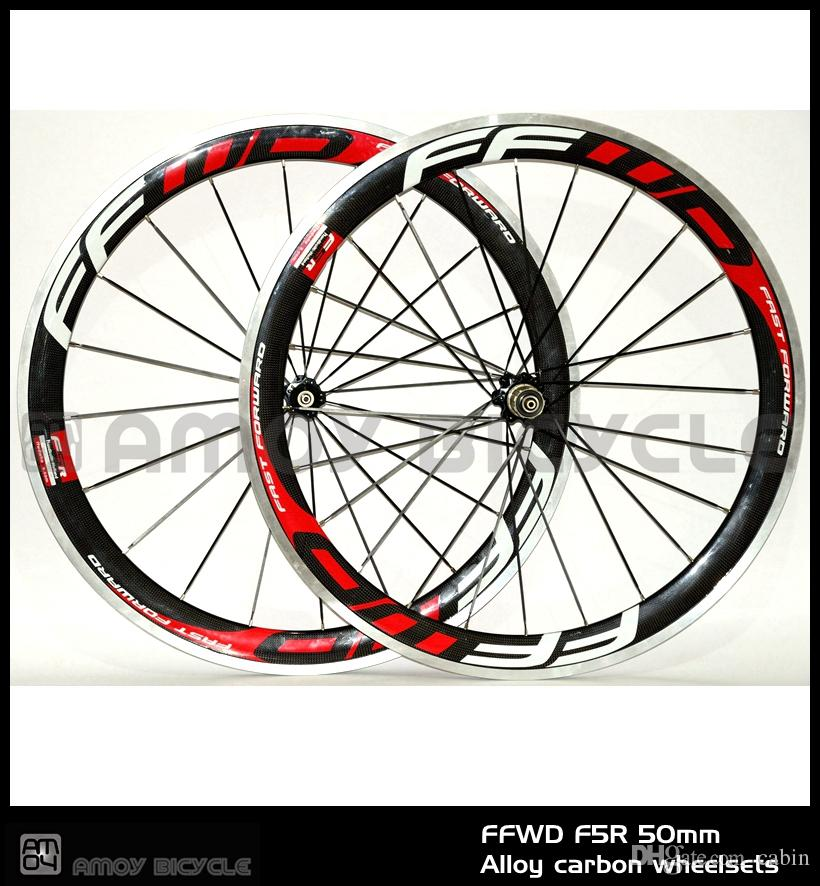 9cbff6f59b9 700C FFWD F5R 50mm Clincher Rim Road Bike 3K Carbon Bicycle Wheelset With  Alloy Brake Surface Carbon Wheels 29 Mountain Bike Wheels 29 Bike Wheels  From ...